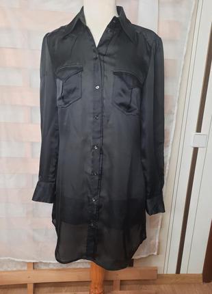 Длинная рубашка платье шифон м