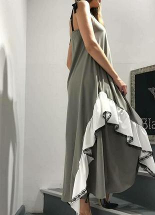 Шикарное платье,сарафан,с воланом, люкс серия, размер м.