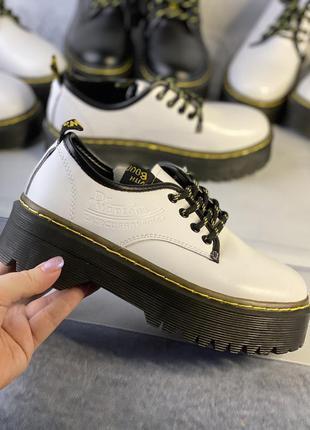 Белые туфли, броги из натуральной кожи