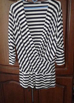 Блуза в морском стиле на запах