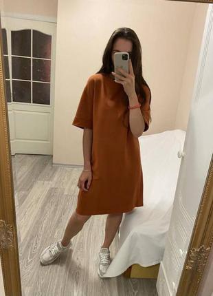 Платье оверсайз платье туника платье футболка платье zara basic