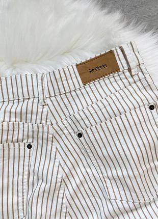 Штани джинси в полоску stradivarius