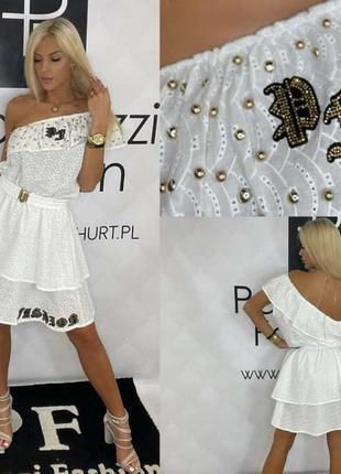 Невероятно нежное,нарядное платье,прошва, paparazzi, размер универсальный с-л, премиум серия.