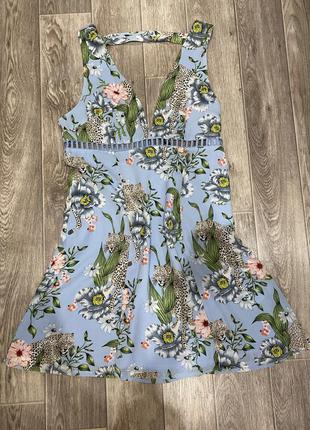 Нереально красивое платье сарафан  в тропический принт, h&m