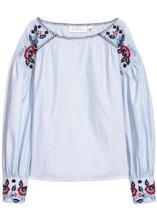 Красивая блуза h&m с вышивкой.