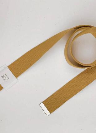Ремень текстильный sox с двумя кольцами горчичный