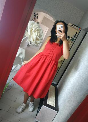 Платье сарафан миди м-л