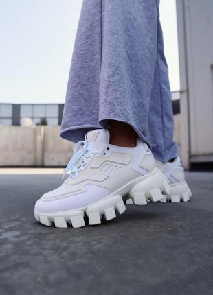 Женские кроссовки cloudbust white демисезонные