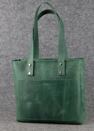 8cc03c52c1ee Кожа. ручная работа. зеленая женская сумка-шопер, цена - 1640 грн ...