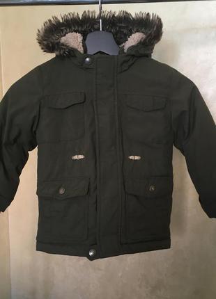 Куртка парка 3-4роки демисезон колір хакі