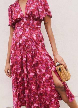 🌿 миди платье с флористическим принтом от topshop