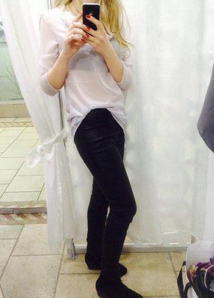 Кожаные стрейчевые штаны