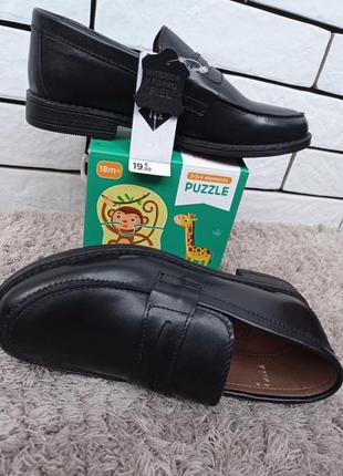 Кожаные черные класические туфли на мальчиков мужчин 39, 40, 41 tex