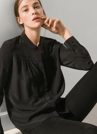 Рубашка блуза шелк massimo dutti