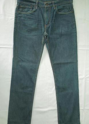 """Джинсы мужские из не толстой ткани levis 511 размер w34""""  l32"""""""