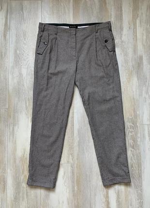 Шерстяные брюки штаны бренда massimo dutti.