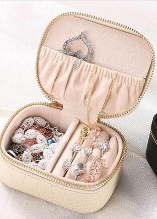 Восхитительная лаковая шкатулка для украшений, органайзер на молнии для хранения ювелирных изделий