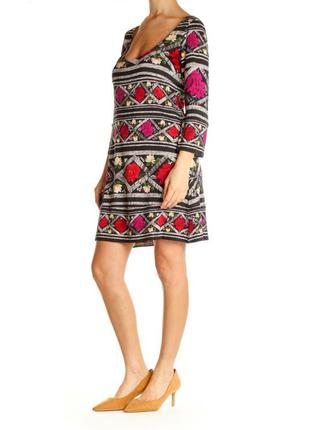Шикарнейшее шелковое платье 100% шелк цветочный принт