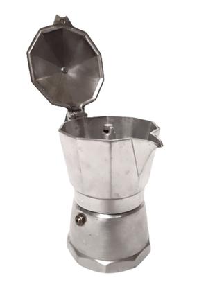Гейзерная кофеварка на 200 мл, для любого вида плиты