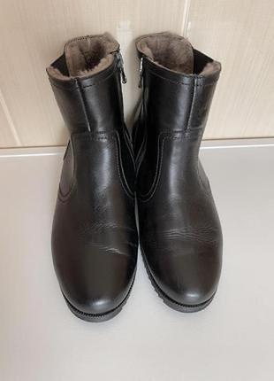 Полусапоги ботинки кожаные на натуральном меху
