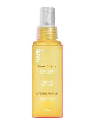 Успокаивающий мист для лица с витамином е и экстрактом арники rare paris trésor solaire soothing facial mist 120 мл