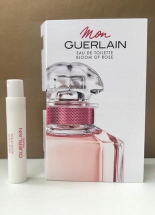 Оригинал парфюм женский guerlain mon guerlain bloom of rose, 0,7 мл, пробник