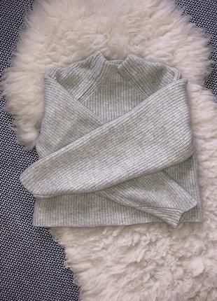 Шерстяной свитер оверсайз кофта шерсть кашемир