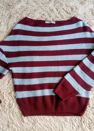 Мягкий свитер в полоску goldi