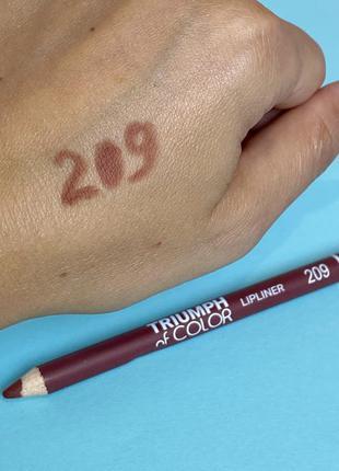 Олівець для губ triumph of color №209 к. 4023