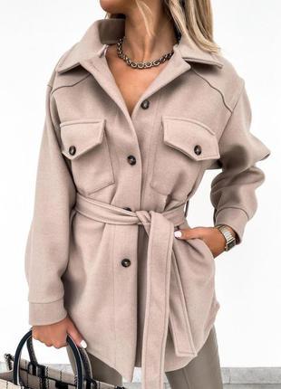 Пальто рубашка из кашемира 2 цвета