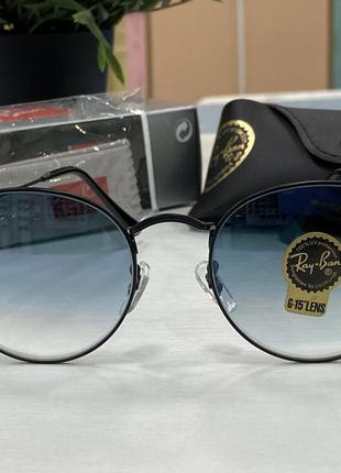 Ray ban солнцезащитные очки с овальными стрелянными линзами градиент в чёрной оправе сонцезахисні окуляри