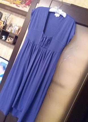 Стильное платье миди из плотного трикотажа большого размера