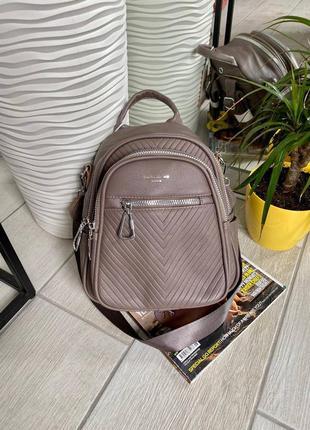 Рюкзак david jones на 2 отдела, цвет бєж хаки