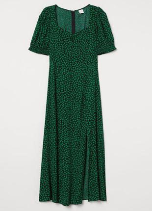 Длинное яркое платье h&m