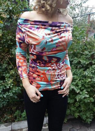 Супер блуза с опущенными плечами