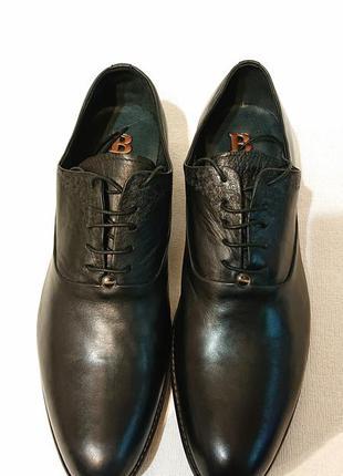 Классические мужские туфли basconi 42р кожа кожаные туфли на шнурке