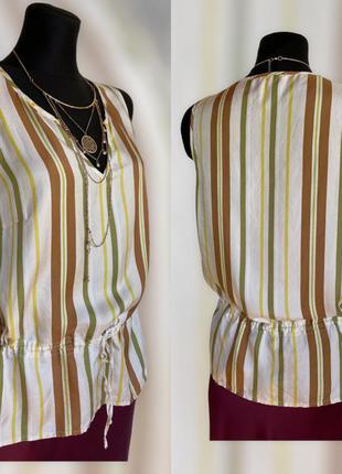 Фирменная стильная качественная натуральная блуза из шёлка