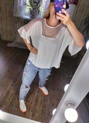 Крутая блуза оверсайз футболка