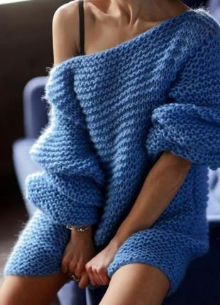 Дизайнерський светр ангора-шерсть