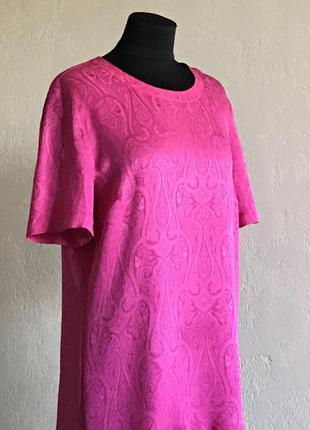 Блузка футболка шелк розовая escada