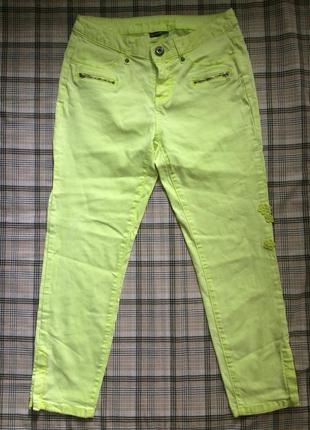 Брендовые джинсы лимонного цвета кислотного цвета низкая цена