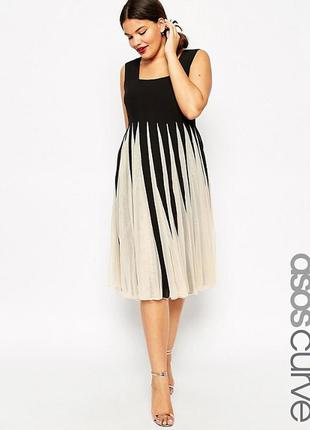 Новорічний розпродаж !!! сетчатое платье с квадратной горловиной asos curve