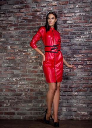 Красивое  кожаное  платье angel provocation новое 42 р