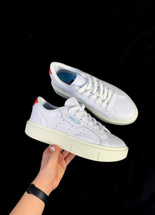 Adidas sleek женские кожаные кроссовки