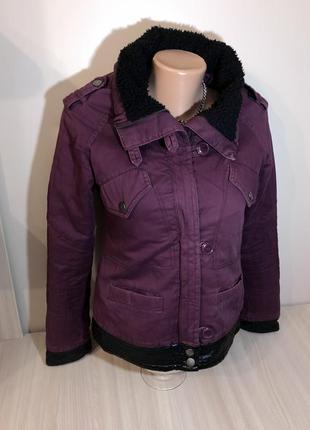Джинсовая куртка утеплённая короткая куртка s