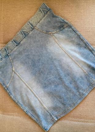 Трикотажная юбка под джинс