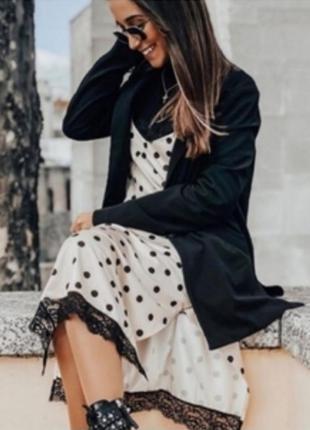 H&m платье zara в бельевом стиле в горох с кружевом zara next atmosphere amisu new look manro f&f h&m primark atmosphere
