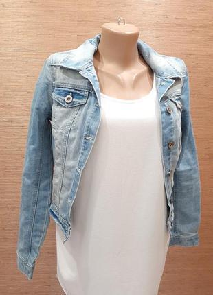 💖💙💚 стильный джинсовый пиджак