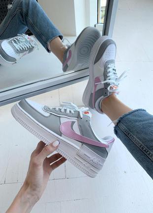 Кросівки air force shadow pink/grey кроссовки