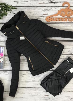 Трендовая стеганая куртка zara   ow4880